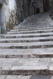 Stone stairway in old Taranto, Italy. Stock Photos