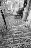 Stone stairway in the old town Royalty Free Stock Photography