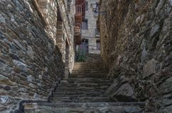 Stone stairway at a rural backstreet stock images