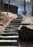Stone stairway - Takayama Japan Royalty Free Stock Photo