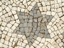 A stone star Royalty Free Stock Photography