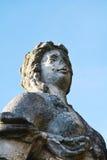 Stone statue against the sky, Castello, Conegliano Veneto, Treviso, Italy. Beautiful stone statue against the blue sky at Castello, Conegliano Veneto, Treviso Royalty Free Stock Photography