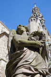 Stone statue of angel from calvary beside St. Pauls church (Paulskerk). Stock Photo