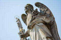 Stone statue of Angel Gabriel Royalty Free Stock Image