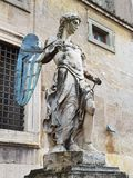 Stone statue of an angel in a castle royalty free illustration
