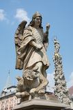 Stone statue of Archangel Michael Stock Photos