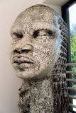 Stone statue in a black history museum royalty free stock photos