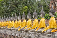 Stone statue of a Buddha Royalty Free Stock Photos