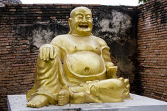 Stone statue of a Buddha Royalty Free Stock Photo