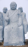 Stone statue of Buddha Stock Photography