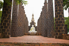 Stone statue of a Buddha in Ayutthaya Royalty Free Stock Photo