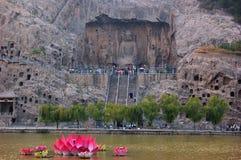 Stone statue of Buddha in Longmen Grottoes Stock Photos