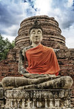 Stone statue of a Buddha Royalty Free Stock Photography