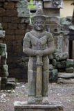 Stone statue in a cambodian temple Stock Image