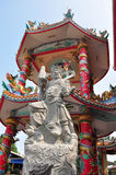 Stone statue in Chinese shrine in Thailand. Royalty Free Stock Photos