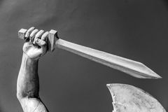 Stone statue detail of human hand Royalty Free Stock Images