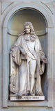Stone statue of Francesco Redi. Stone statue depicting historical character Stock Photo