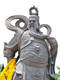 Stone Statue Of Guan Yu (Vertical). Stone Statue Of Guan Yu at Suphanburi province in Thailand Royalty Free Stock Images