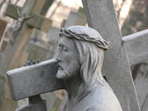 Stone statue of Jesus Stock Photos