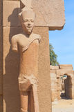 A stone statue in the Karnak temple (Egypt) Royalty Free Stock Photos