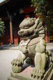 Stone statue of lion,China royalty free stock photos