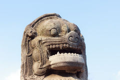 Stone statue of a lion Stock Photography