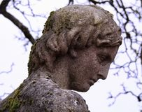 Stone Statue of a Man Classical Greek Style Royalty Free Stock Images