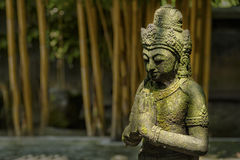 Stone statue in Mendut temple, Indonesia Royalty Free Stock Photo