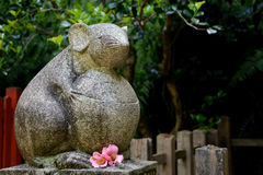 Stone statue of mouse Stock Photo