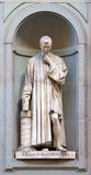 Stone statue of Nicolò Macchiavelli. Stone statue depicting historical character Stock Images