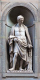 Stone statue of Nicola Pisano. Stone statue depicting historical character Stock Image