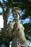 Stone statue - Portmerion Village in Wales Royalty Free Stock Photo