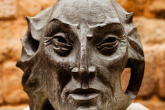 Stone statue of the prince of Asturias, located in Spain Royalty Free Stock Images
