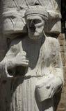 Stone Statue of Sior Antonio Rioba, Campo Dei Mori. Venice, Italy Stock Images
