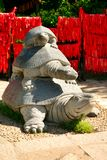 Stone statue of turtles in the Valley of Longevity. Nanshan Park. royalty free stock images
