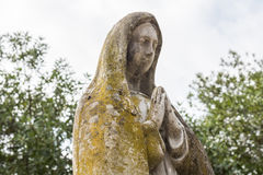 Stone statue of the Virgin Mary Stock Image