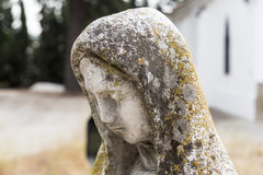 Stone statue of the Virgin Mary Royalty Free Stock Image
