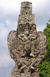 Stone statue - Vishnu seated on Garuda Stock Photos