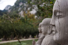 Stone Statues. At a Chinese temple Royalty Free Stock Photography