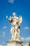 Stone statues of angels and apostles Eliyev on the bridge over the River Tiber leading to Castel Sant'Angelo in Rome, capital of I Stock Images