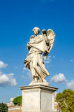 Stone statues of angels and apostles Eliyev on the bridge over the River Tiber leading to Castel Sant'Angelo in Rome, capital of I Stock Image