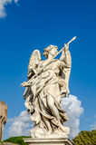 Stone statues of angels and apostles Eliyev on the bridge over the River Tiber leading to Castel Sant'Angelo in Rome, capital of I Stock Photos
