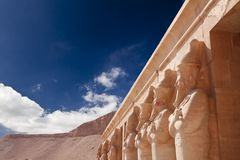 Stone statues in Egyptian temple Stock Photo