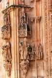 Stone Statues Facade New Salamanca Cathedral Spain Stock Photos