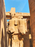 Stone Statues in Karnak Temple Stock Photography