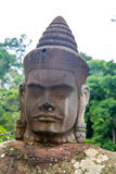 Stone statues Khmer Face Stock Photos