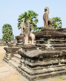 Angkor lions, Cambodia Royalty Free Stock Photography