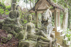 Stone statues at the magic garden Royalty Free Stock Photography
