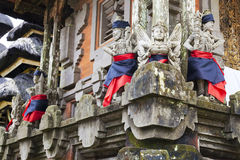 Stone Statues at Pura Ulun Danu Batur, Bali Royalty Free Stock Photography