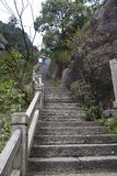 Stone Steep Steps . Treking walking hking Huangshan Mountain. An. The way up , Stone Steep Steps . Treking walking hking Huangshan Mountain. Anhui, China. April Stock Photos